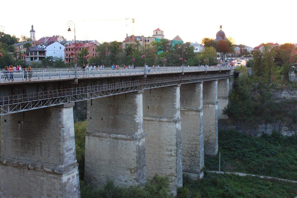 Kamyanets-Podilskyi, panoramic bridge