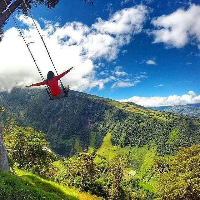 Swing in the sky, Ecuador