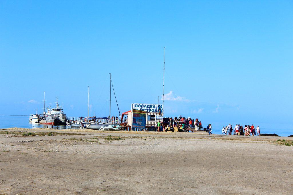 Skadovsk harbour, Dzharylhach island, Kherson region, Ukraine