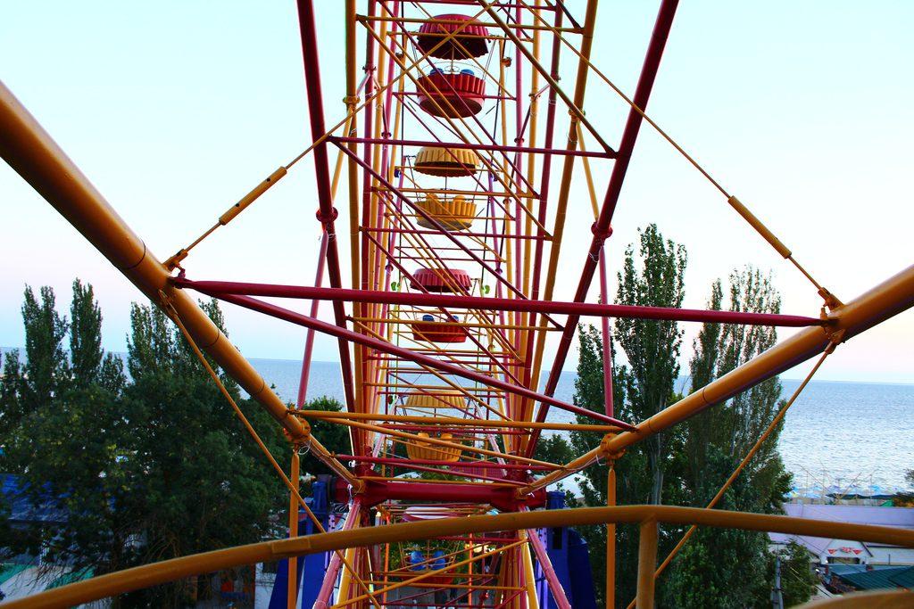 Скадовск, Херсонская область, парк аттракционов