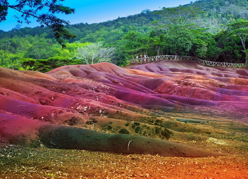 Маврикий, цветные пески Шамарель