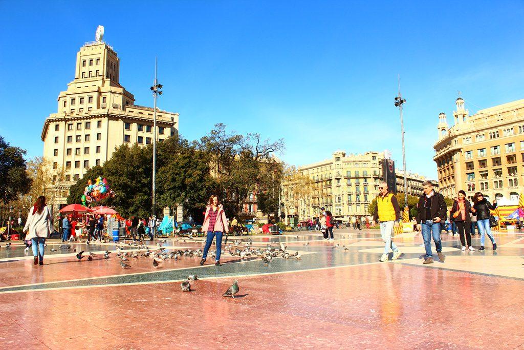 Барселона, Испания, площадь Каталонии