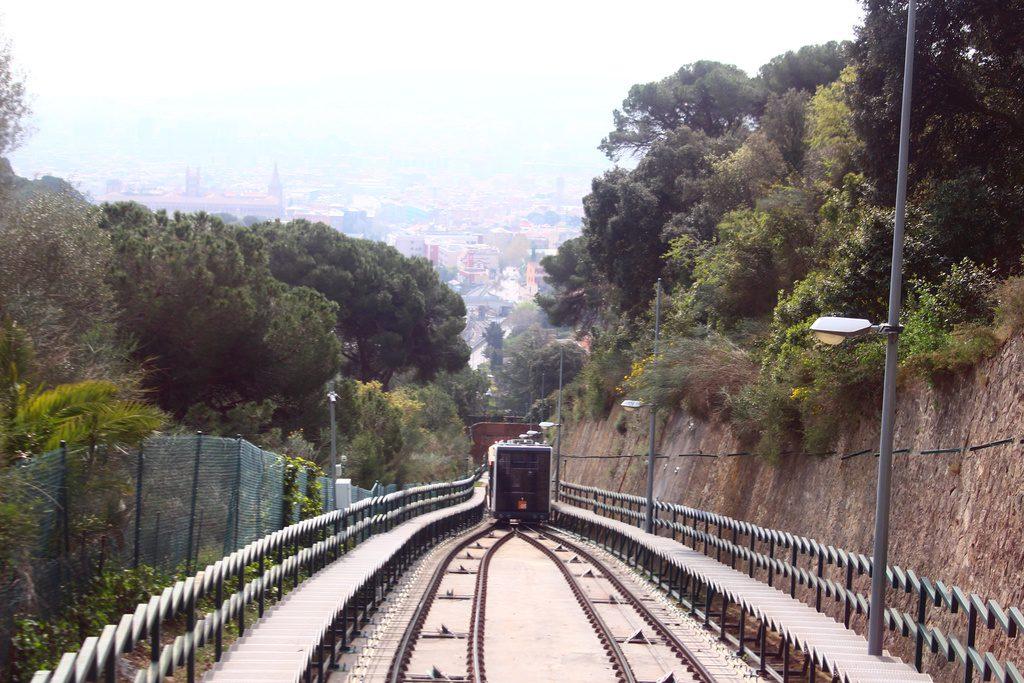 Барселона, парк Тибидабо, фуникулер