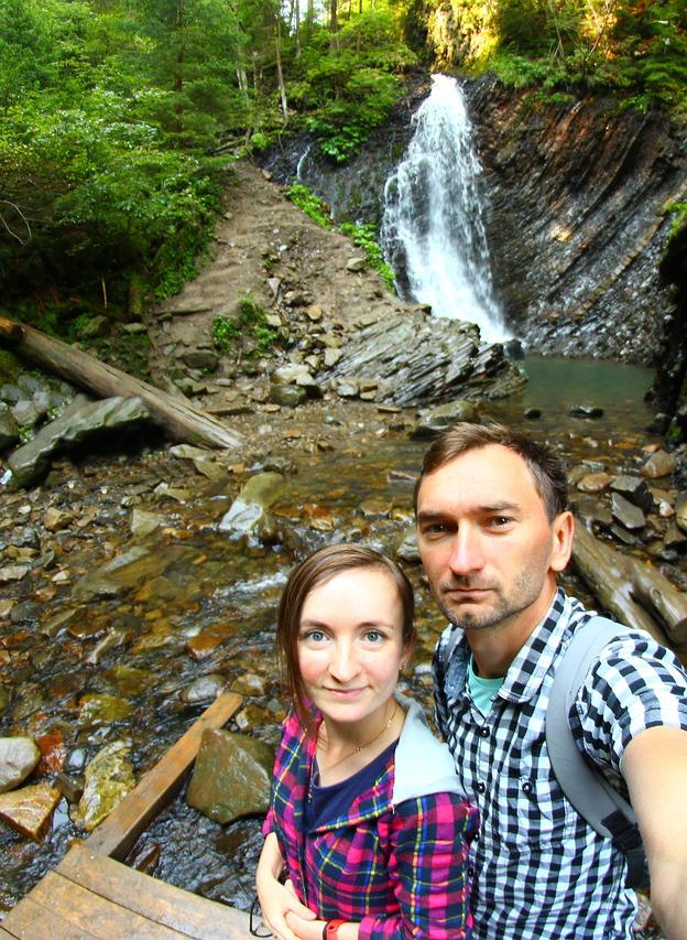 Карпаты, водопад Гук