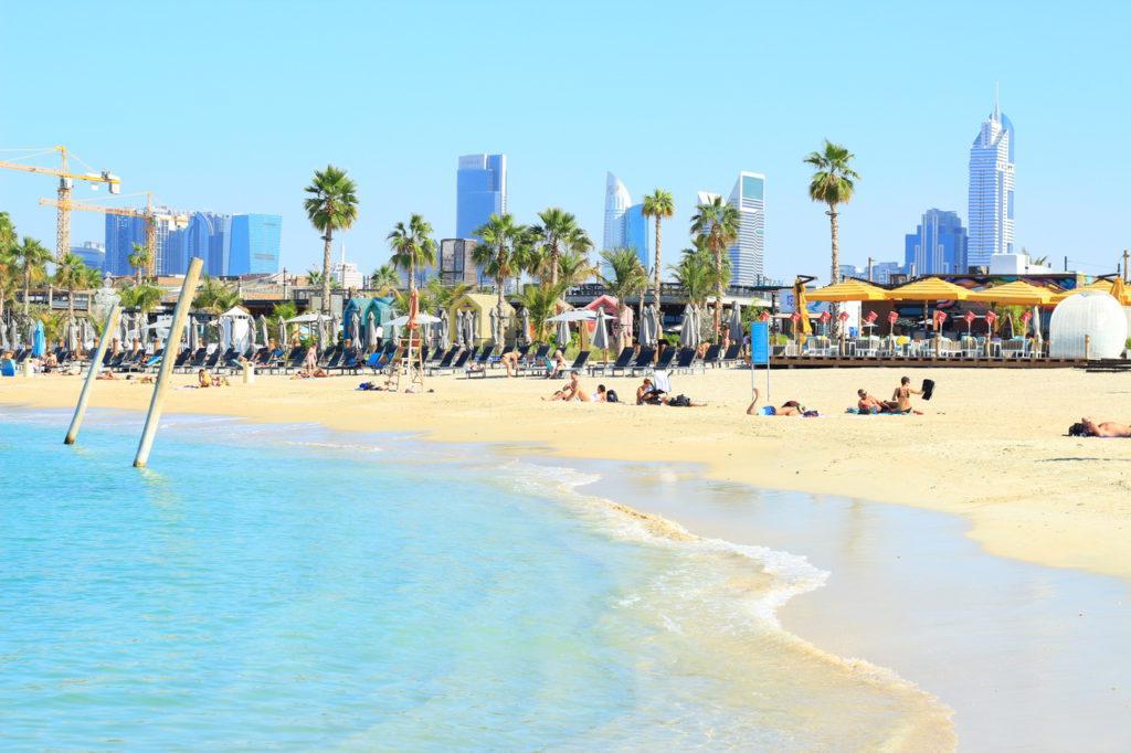 Дубай, пляж La Mer