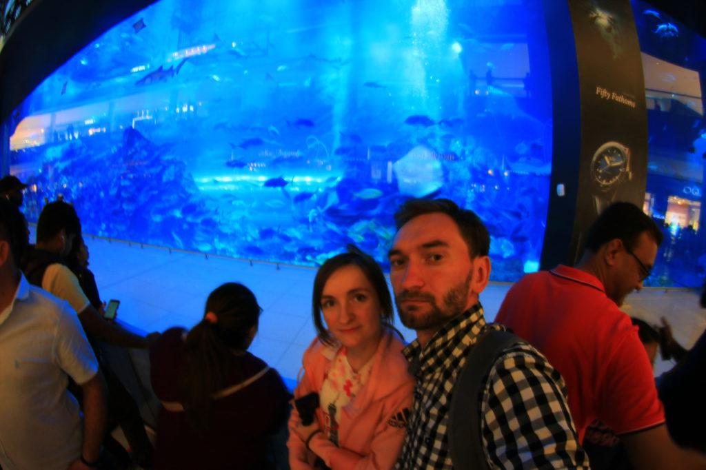 Дубай, торговый центр Dubai Mall, аквариум