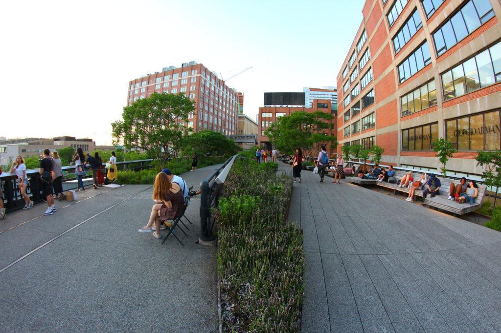 USA, New York, High Line Park