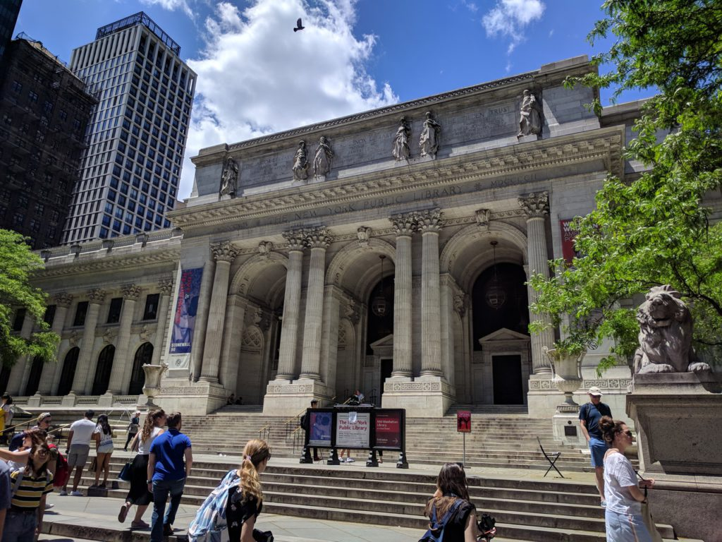 USA, New York, Manhattan, Public library