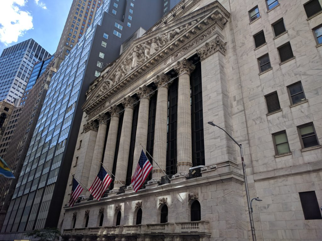 USA, New York, New York Stock Exchange