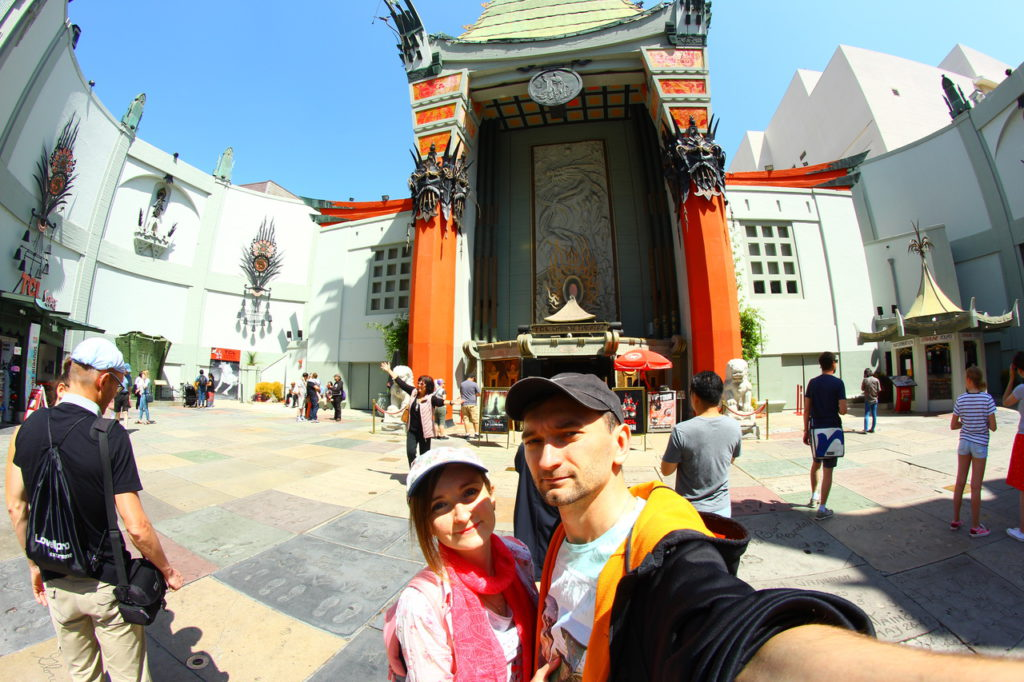 USA, Los Angeles, Hollywood, Walk of Fame, Chinese theatre