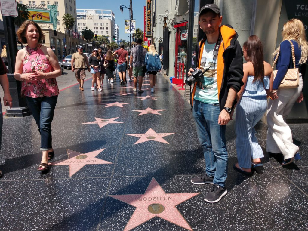 USA, Los Angeles, Hollywood, Walk of Fame