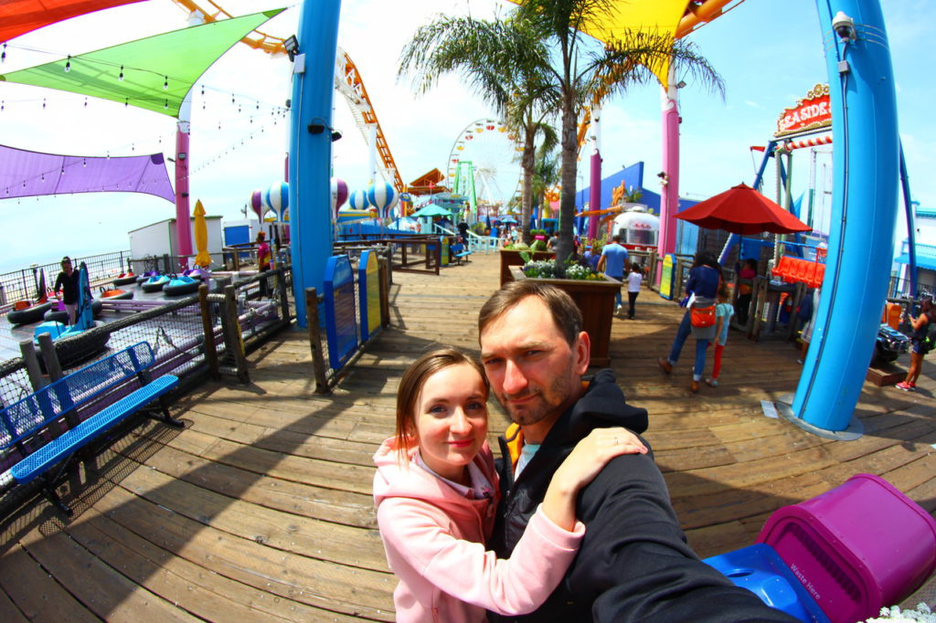 USA, Los Angeles, Santa Monica Pier, Pacific Park